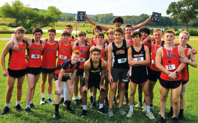 Cushing Cross Country boys and girls take conference titles